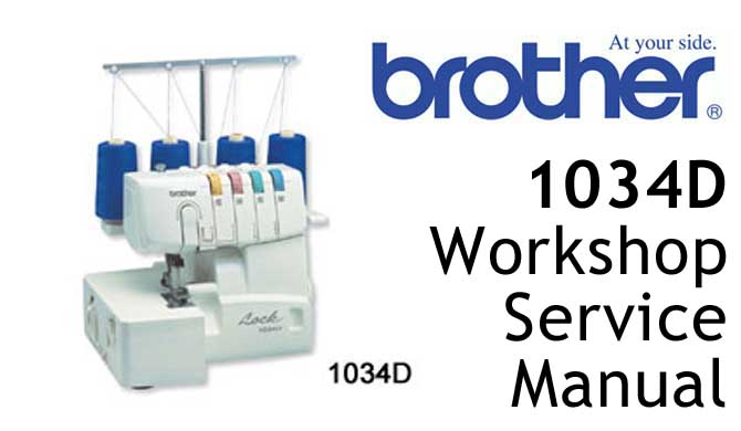 Brother 1034D overlocker serger sewing machine Users Manual