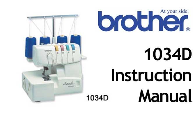 1034d serger sewing machine