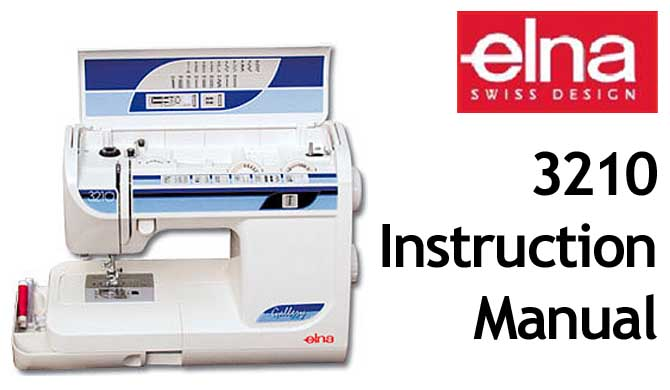 Elna 3210 User Instruction Manual
