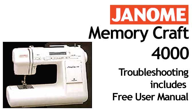Janome Memory Craft  Troubleshooting