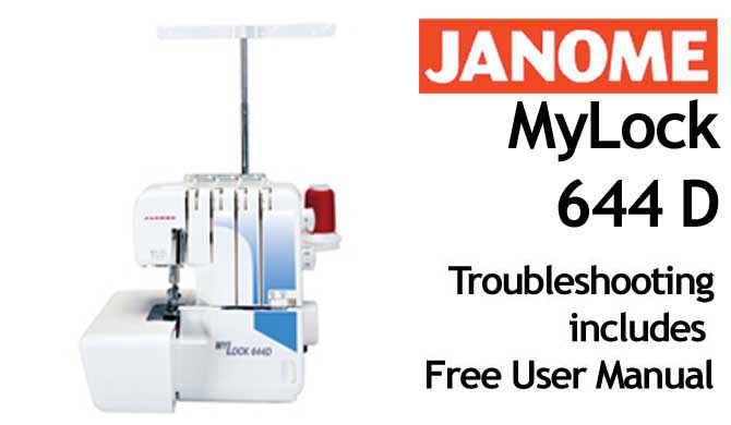 Troubleshooting Janome ML 644D
