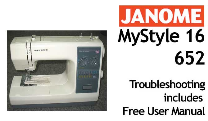 Troubleshooting Janome MyStyle 16 - 652 - Click Image to Close