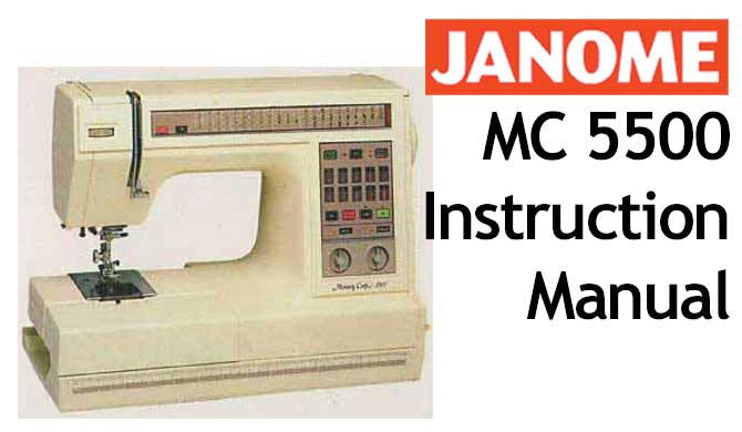 problems janome sewing machine manual