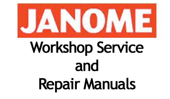 Janome Workshop Service and Repair Manuals