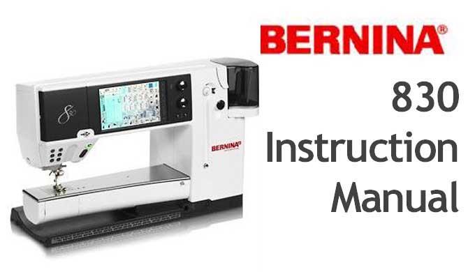 Bernina Computerised 40 Sewing Machine Users Instruction Manual Custom Bernina 830e Sewing Machine