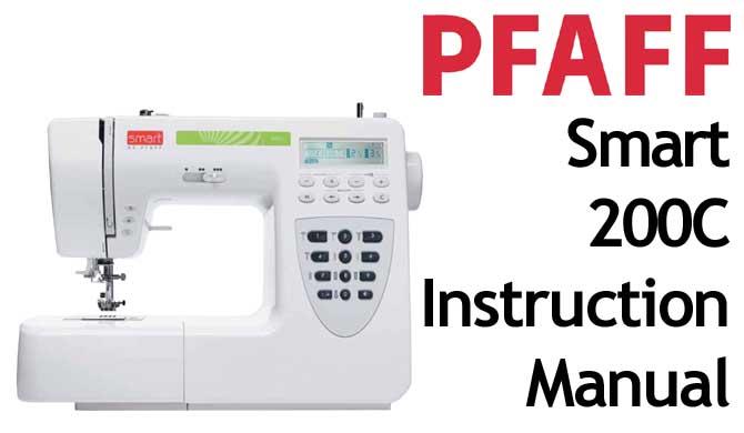 pfaff model smart 200c sewing machine instruction manual pfaff model rh dlbargainbox com